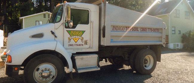 Indigo Topsoil Hauling Truck